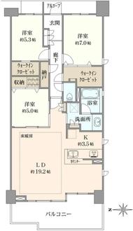 ヒルコートテラス横浜汐見台E棟の間取図