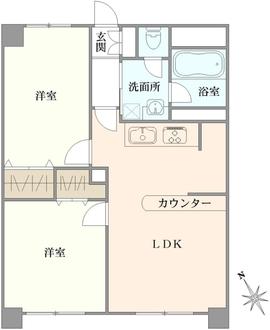 ライオンズマンション和田町の間取図