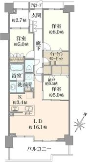ヒルコートテラス横浜汐見台G棟の間取図