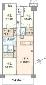コスモ横浜常盤台公園の間取図