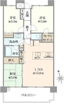 レーベン横濱鶴ヶ峰テラスの間取図