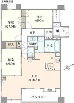 クリオ横浜伍番館の間取図
