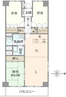 保土ケ谷ファミールハイツ3号棟の間取図
