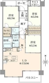 マイキャッスル横浜山手エクセレントステージの間取図