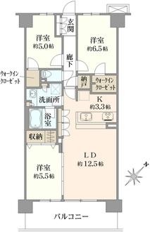 ウェリス弘明寺の間取図