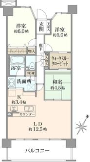 レーベンハイム横浜鶴ヶ峰の間取図