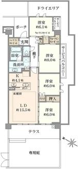 ブリリアシティ横浜磯子 C棟の間取図