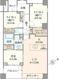 グランドメゾン大倉山テラスの間取図