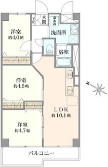 コトー横浜星川 弐番館の間取図