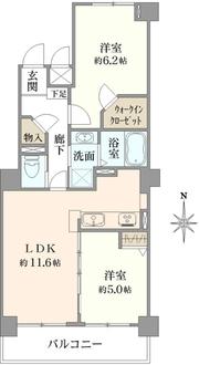 モアステージ横浜大口の間取図