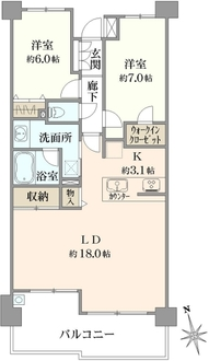 レーベンリヴァーレ横濱鶴ヶ峰ヒルズの間取図