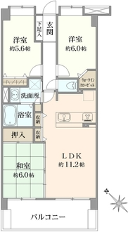 ビクトリアヒルズ横濱サウスB棟の間取図