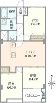 陽輪台・横浜の間取図
