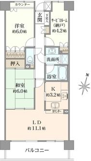横浜西谷パークホームズの間取図