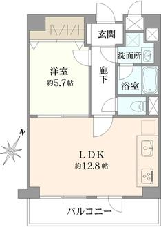 東神奈川グリーンマンションの間取図
