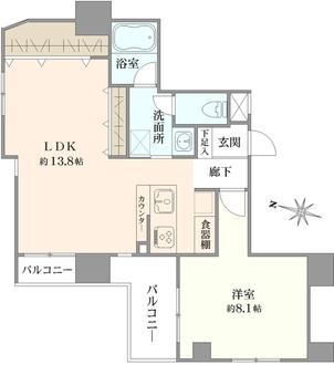サングレイス横浜駅東の間取図