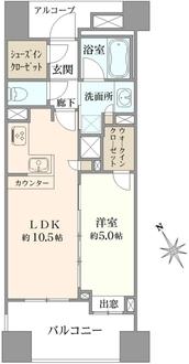 グローベル ザ・スイート横浜の間取図