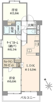 ダイアパレス横浜阪東橋の間取図