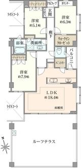 サザンヒルズ横濱本郷台の間取図