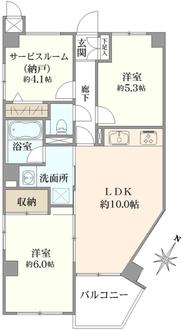 プレジャーガーデン横濱の間取図