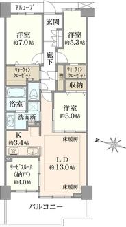 ヒルコートテラス横浜汐見台 E棟の間取図