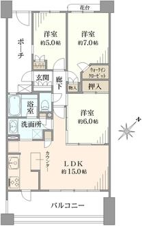 サンクタス横濱洋光台の間取図