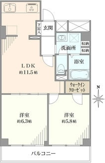 横浜鶴ヶ峰ビューハイツの間取図