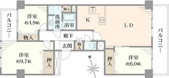 ニューシティ東戸塚南の街8号棟の間取図