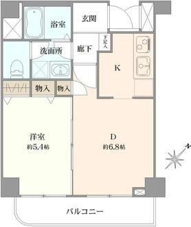 グリフォーネ横浜・西口の間取図
