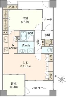 ライオンズステージ横浜キャナルスクエアの間取図