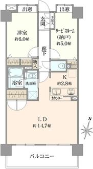 クレストフォルム横浜グランステージの間取図