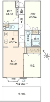 横浜南軽井沢パーク・ホームズの間取図