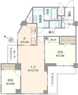 ラミアール南軽井沢の間取図