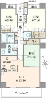 横浜ヘリオスタワーの間取図