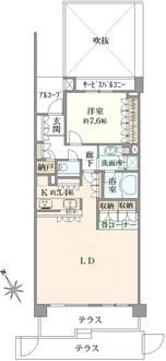 鎌倉御成町マスターズハウスの間取図