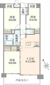 ランドステージ金沢文庫2番館の間取図