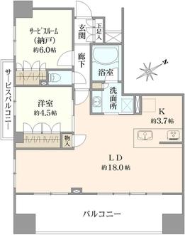 リステージ横浜浅間町の間取図