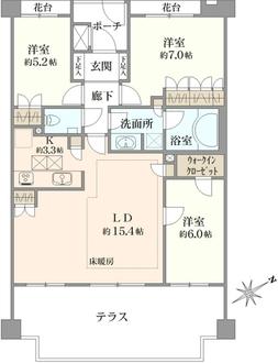 クレッセント横浜岸谷台の間取図