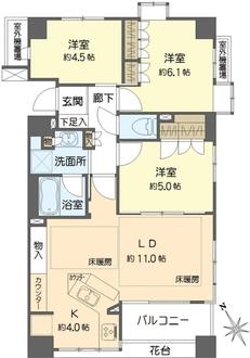 藤沢パーク・ホームズ セントラルステージの間取図