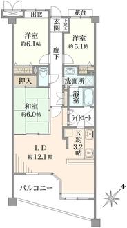 藤沢藤が岡ガーデンハウスの間取図
