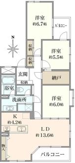 藤沢シティハウスの間取図