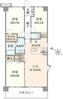 グリーンコーポ川崎ニューシティスクウェアの間取図