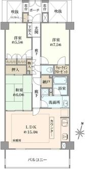 ヒルハイツ鎌倉高校前の間取図