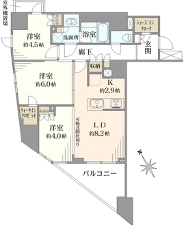 パレステージ藤沢シャインコートの間取図