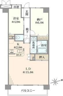 レクセルマンション湘南鵠沼の間取図