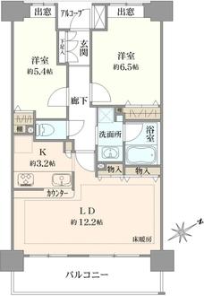 ザ・フロント湘南藤沢の間取図