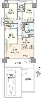 シティハウス湘南台ステーションコートの間取図