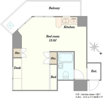 第31宮庭マンションの間取図