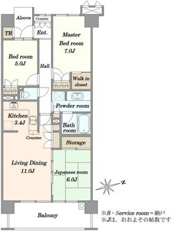 ルネアクアパークス ビューフロントの間取図