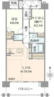 コスモシティ武蔵小杉の間取図